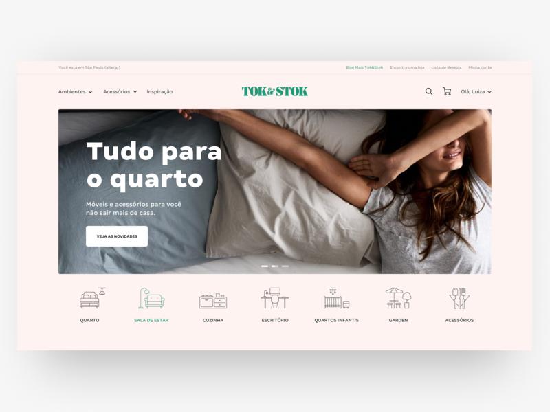 Tok&Stok Home Page website web visual ui design page home page home