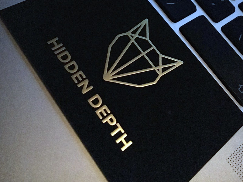 Gold Foil Business Cards By Dave Meier