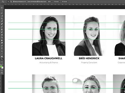Synergy for team photos spacing photoshop profile team