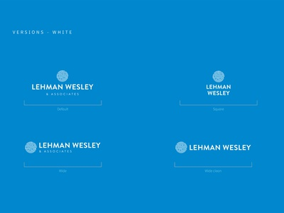 Lehman, Wesley - final logo logo brand identity branding