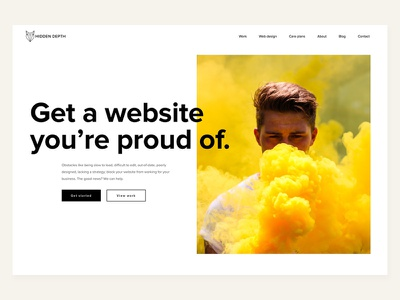 A Website To Be Proud Of jtbd image typography web design ui hero unit