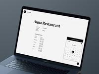 Restaurant Profile Page