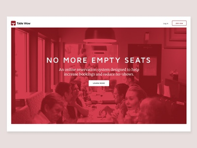 Table Wow home page #2 colour tone web design jobs to be done ui design