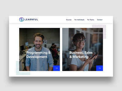 Course categories education website education web design