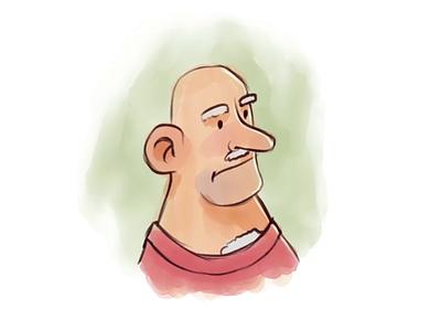 An Old Man — Illustration in Procreate man procreate brush drawing illustration