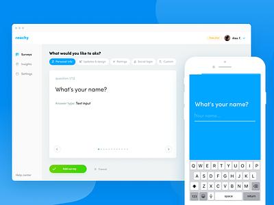 Dashboard —WEB survey mobile iphone dashboard web admin question ui ux