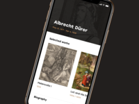 Dürer For Drbbbl painting art durer design mobile ui ios app