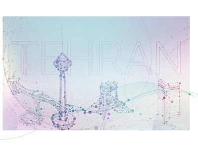 tehran network پل طبیعت برج آزادی milad tower برج میلاد city تهران tehran network connection nodes