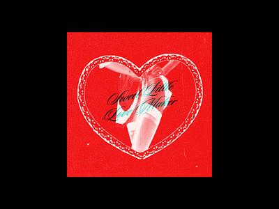 SWEET LITTLE LOVE MAKER (RED) valentines day poster design poster typography adobe illustrator design