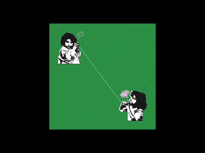 SOCIAL DISTANCING collage social distancing film grain green poster design poster design