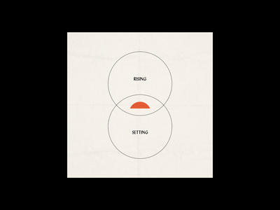 RISING, SETTING, BEING typography poster design poster adobe illustrator design