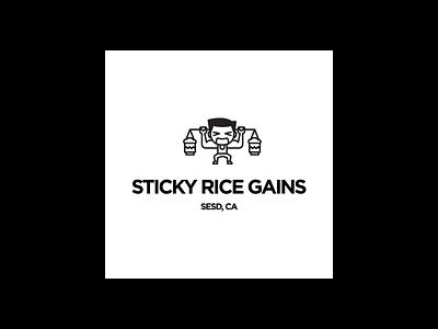 SRG Gym monoline logo vector illustration black and white adobe illustrator design
