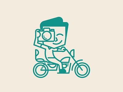 IVAN monoline vector logo design illustration