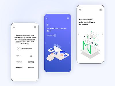 Netguru Homepage - mobile version visual design visual art product design architecture ux user interface minimal web design responsive mobile interface ui