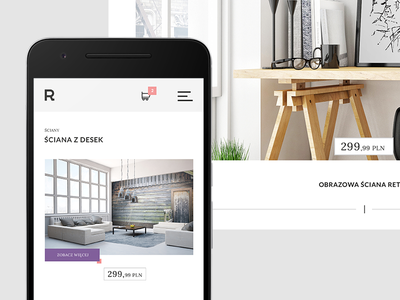 E-commerce redesign cart product flat tiles responsive minimal web design interface ux ui redesign ecommerce