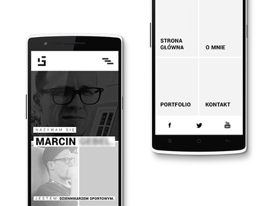 Journalist / UI client homepage menu minimal mobile interface ui web design journalist