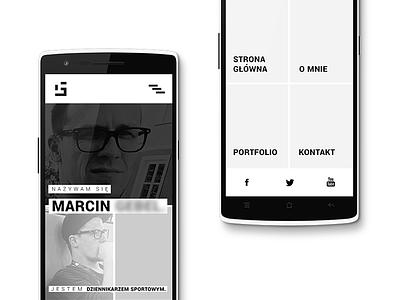 Journalist / UI client homepage menu minimal mobile interface ui web design journalist