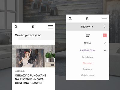 E-commerce redesign / part 2 ux design ui torpedov swierkowski wallpapers store online burger menu blog ecommerce