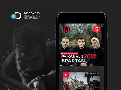 Spartan 2017 for Discovery Networks Danmark tv show discovery images paralax scroll swierkowski landing page responsive web design spartan