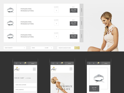 AH e-commerce jewellery swierkowski torpedov ui ux design interface ecommerce