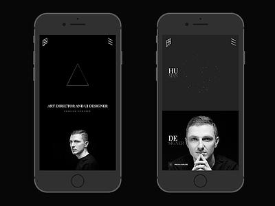 Portfolio / Piotr Swierkowski 2017 transitions white black minimal website interactions ux ui designer web designer portfolio
