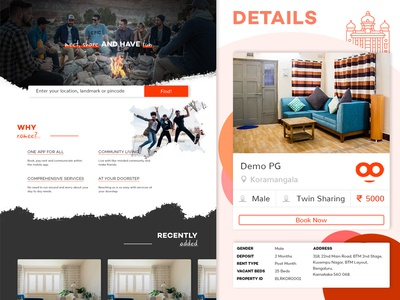 Roomee - Website & Mobile App