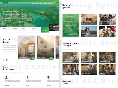 Bed and Breakfast Hotel Landing Page Redesign