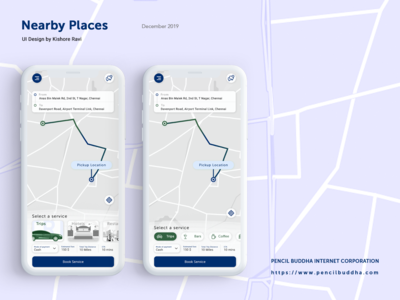 Taxi Booking & Map Mobile App User Interface