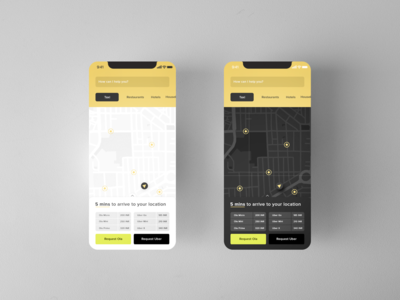 Nearby Locations and Services Map App UI