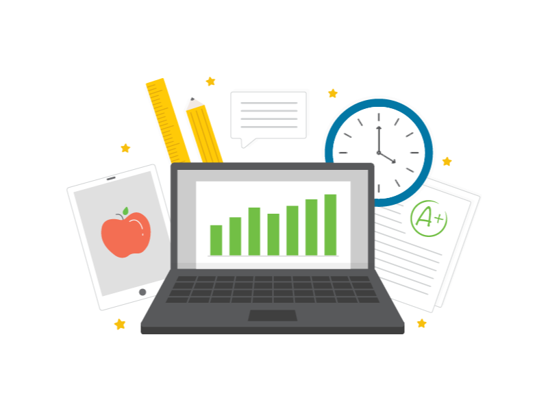Product Features Illustration edtech icons illustration