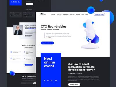 CTO Roundtables Landing Page webinar technology cto ui website web design landing