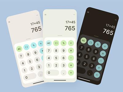 Calculator App ios grey app calculator colors pastel mobile app design mobile figma minimal