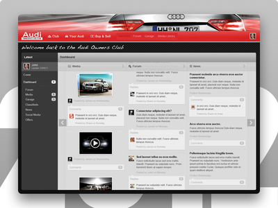 Dashboard Concept - Audi Owners Club - 2012