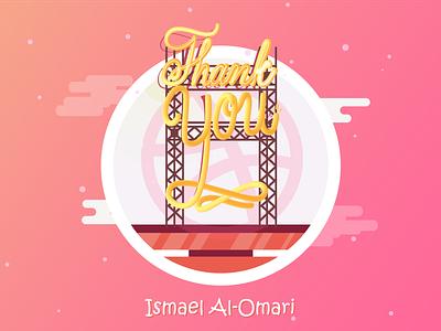 Thanks Ismael illistration thankful invation