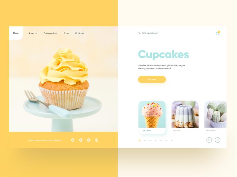 Dessert Shop Concept ui design web ui