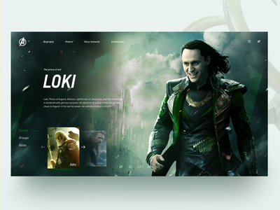 Loki <3 ui marvel loki comics web