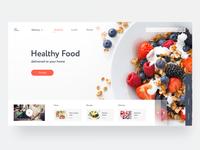 Healthy Food Design Concept