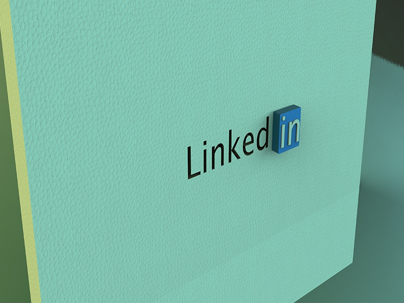 Linkedin 3D Logo - V1 linkedin keyshot 3d animation branding maya