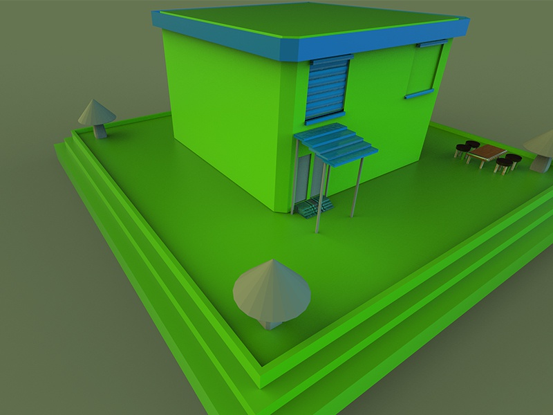 Cartoon house Model keyshot autodesk maya cartoon cartoon character house cartoon art