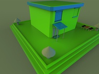 Cartoon house Model