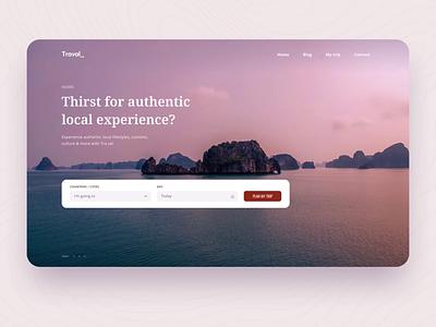 Travel Platform - Trip customize landing custom website search tour platform trip