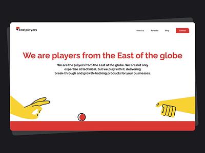 Eastplayers Website Animation illustration website animated gif animation