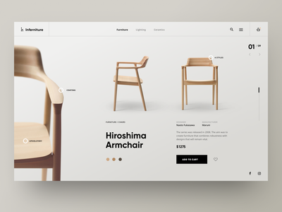 Furniture Shop – Product Page furniture store furniture webdesign website web ux ui design ui shop product page product interior interface ecommerce design commerce