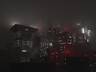 Blade Runner Voxel City 3d art magicavoxel voxelart voxel city cityscape dystopia blade runner bladerunner render