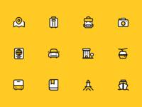 一组旅行icons