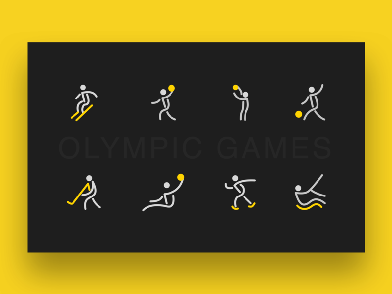 运动icons 活版印刷 ux 商标 图标 向量 品牌 插图 设计