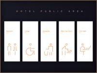 一组公共区域icons