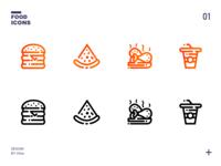 一组美食icons