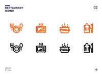 一组厨具icons