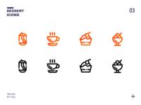 一组甜品icons